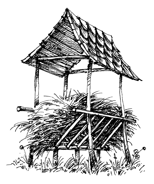 A rustic haystack